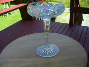 """Crystal Candy Dish 9""""  inch Tall / 5 More Pieces"""