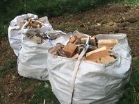 Hardwood Fire wood 2 cubic metre load delivered.