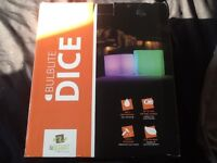 Cordless LED dice light for garden or indoor use. Brand new!