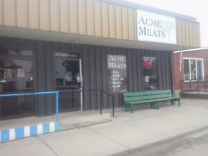 Meat Shop for sale or rent.