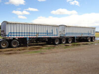 2005 Doepker super B grain trailers
