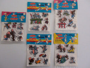 AUTOCOLLANT STICKER TOM & JERRY 1970's