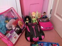 Barbie/ Disney fairies/ monster high dolls and cars