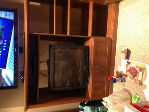Solid Real Wood Entertainment Unit Kitchener / Waterloo Kitchener Area image 4