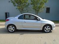 PEUGEOT 206CC CONVERTIBLE 1.6 PETROL MANUAL LEATHER LOW MILEAGE
