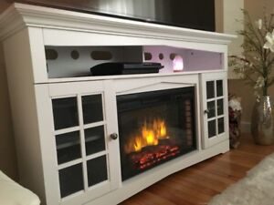 """59"""" TV Stand with Fireplace + Remote control -  fits TVs 65""""plus"""
