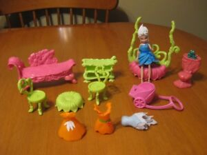 TINKERBELL FAIRY DOLL FURNITURE WITH DOLL AND CLOTHES