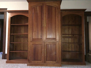 Hutch and Bookcases
