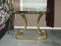 Set of brass side tables - excellent condition