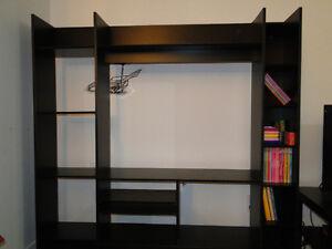 Meuble télé (32 pouces) et bibliothèque