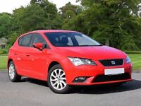 SEAT Leon 1.6 TDI SE (Tech Pack) 5dr (start/stop) (red) 2015