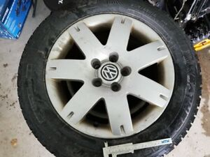 VW Aluminum rims with Cooper Winter tires