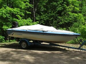 1987 Larson  senza16.5 ft bowrider with matching trailer