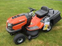 Husqvarna tc138 ride on lawnmower mower