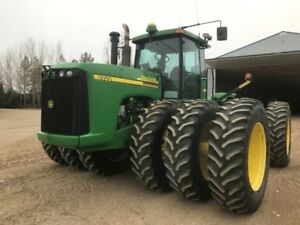 PRICE REDUCED WELL CARED FOR LOW HOURED JD 9320 4WD WITH TRIPLES