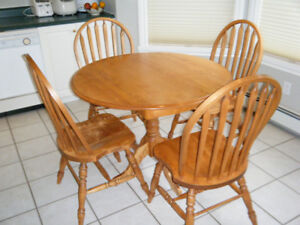 Bass River Kitchen Table and 4 Chairs.  Must sell!