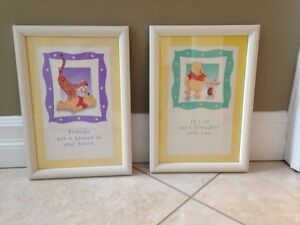 Winnie the pooh framed pictures
