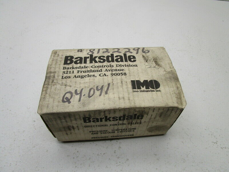 BARKSDALE CDPD2H-A3 PRESSURE SWITCH * NEW IN BOX *