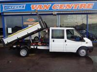 2011 FORD TRANSIT 350 DOUBLE CAB/ TIPPER TIPPER DIESEL