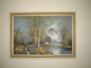 Framed original oil painting signed by artist London Ontario image 1