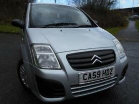 2009 59 CITROEN C2 1.1 VT 3D 60 BHP ** LOW INSURANCE , LOW TAX **