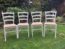 4 Rush seated Chairs