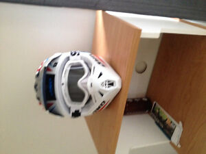 Mint helmet with googles