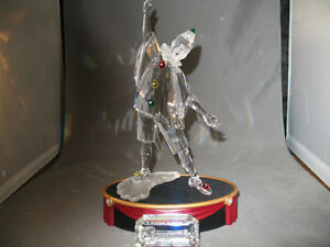 Pierrot Swarovski Crystal with stand and name plaque