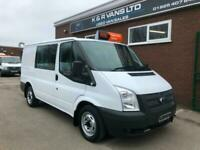 2012 FORD TRANSIT SWB CREWVAN 2.2 TDCi 100PSi FACTORY FITTED 6 SEATER CREW CAB