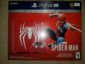 Sealed spiderman ps4 pro