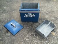 Pepsi antique ice box cooler