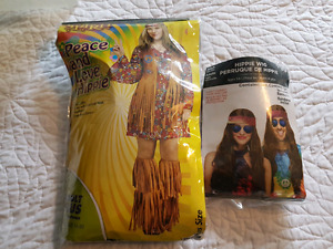 Hippie Costume and Wig. Plus size.