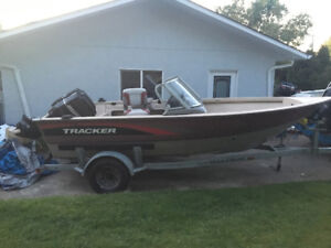1997 17ft aluminum boat/mercury outboard