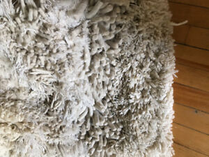 Fill size 100% wool rug approximate size 9 feet by 11 feet.