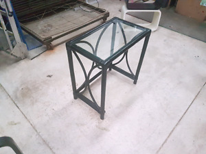 Glass Black end table
