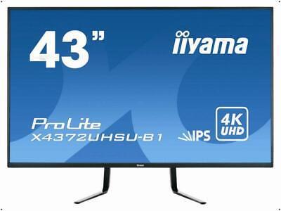 """iiyama 108cm (43"""") LED ProLite 4K LCD X4372UHSU schwarz matt X4372UHSU-B1 NEU"""