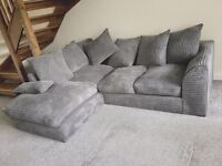 Jumbo 3-seater Corner Sofa with Chaise in Grey