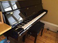 Hyundai upright gloss black piano model U810 can deliver