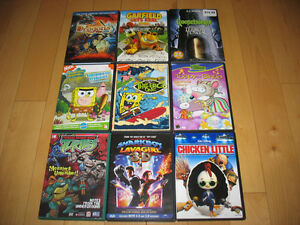 20 CHILDRENS DVD MOVIES and 1 Blue Ray movie