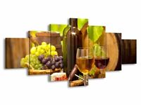 Multi panel extra large canvas print - perfect for kitchen - NEW WITH BOX