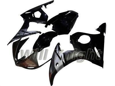 ABS Injection Body Panel Fairing Kit Black Gray For Yamaha YZF600 YZF R6 2005