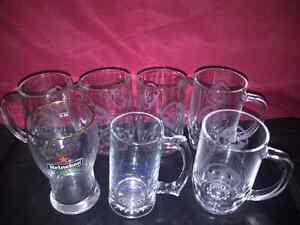 Grands verres de bieres de collection neufs (450 ml, 500 ml)