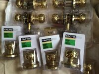 Brass door knobs.