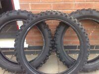Used Michelin/Metzeler motocross/enduro tyres
