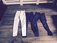 Top shop jeans £8 per pair (Joni /Leigh )