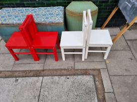 Kiddies chairs £5 each
