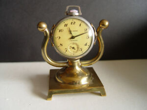 Vintage New Haven Pocket Watch with Brass Stand