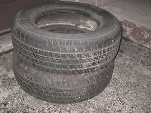 2 All Season Tires 205/70/14, 90% threat left, great shape