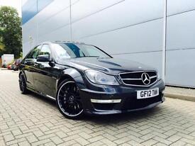 2012 12 reg Mercedes-Benz C63 6.3 V8 AMG Saloon + HUGE SPEC +Black on Black