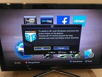 Samsung 50in HD 3D tv with 3D blu ray player glasses and 3D movers